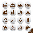 Tourism vector icons — Image vectorielle