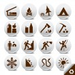 Tourism vector icons — Stock Vector #3698955