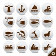 Tourist icon vector set - Stock Vector