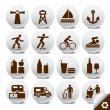 Tourism vector icons — Stock Vector