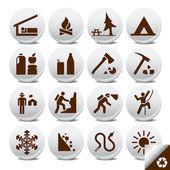 Iconos vectoriales de turismo — Vector de stock