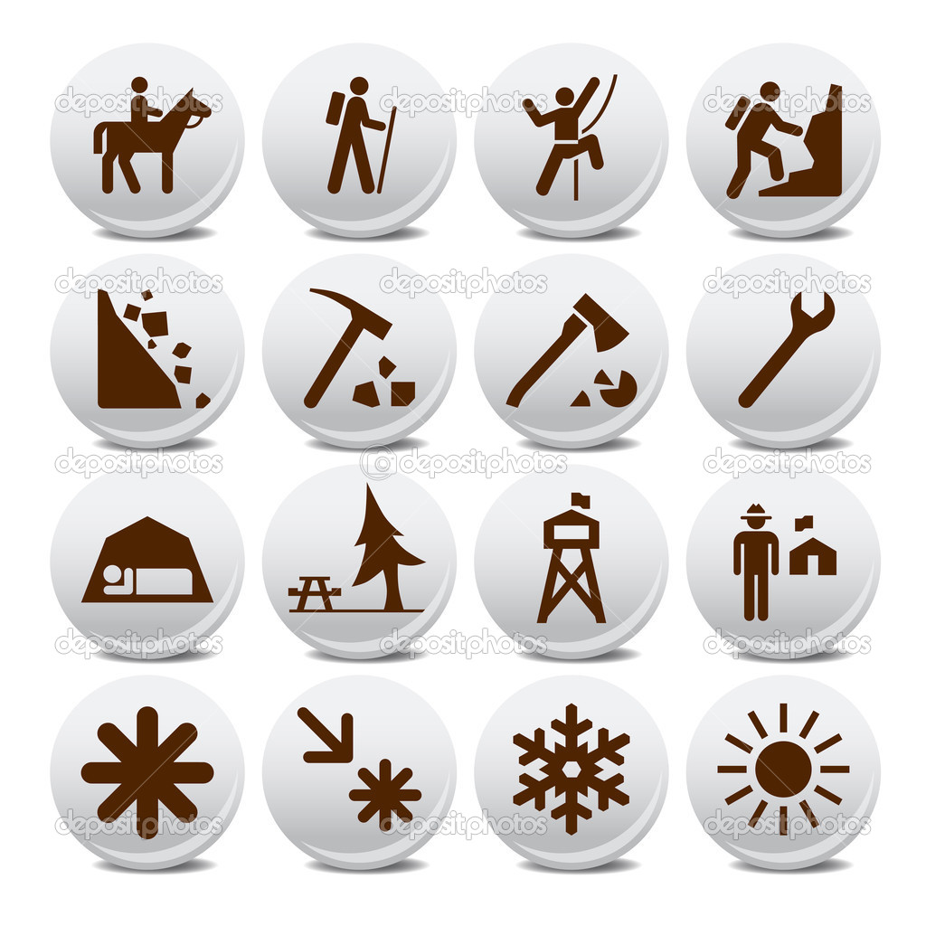 Tourism vector icons for poster — Stock Vector #3698945