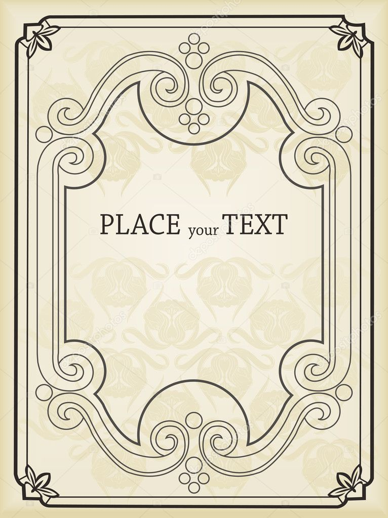 Old Book Cover Vector : Vertical vintage background for book cover vector — stock