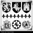 Silhouettes of heraldic elements — Stock Vector