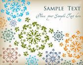 Beautiful flowers vintage vector background — Stock Vector