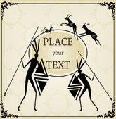 Dikey antika arka plan kitap kapağı vektör için — Stok Vektör