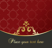 Vintage background golden frame with copy space vector — Stock Vector