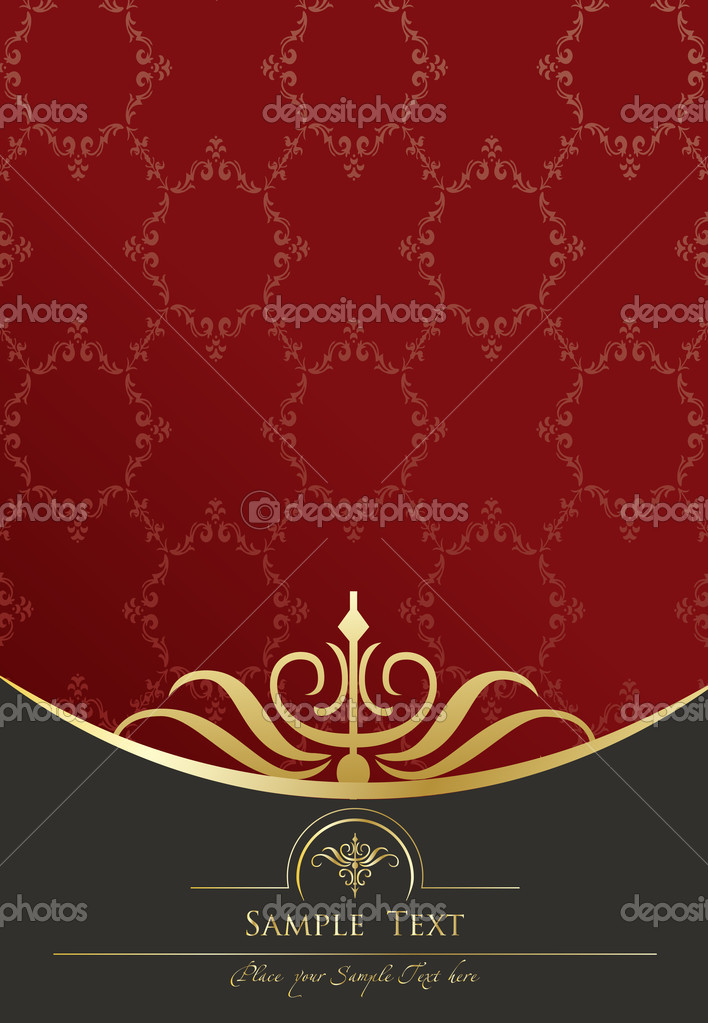 Vintage background golden frame with copy space vector for poster — Stock Vector #3839537