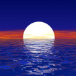 Sea sunset. — Stock Photo