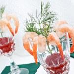 Elegant shrimp cocktail — Stock Photo