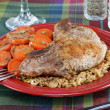 Pork chop dinner. - Stock Photo