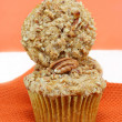 Stacked Pumpkin Nut Muffins — Stock Photo