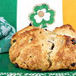 Irist Soda Bread in Irish Setting — Photo