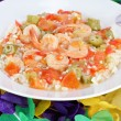 Shrimp Gumbo for Mardi Gras - Stock Photo