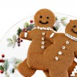 Fresh baked gingerbread men cookies - Stock Photo