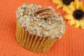 Pecan Pumpkin Muffin — Stock Photo