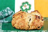 Irist Soda Bread in Irish Setting — Stock Photo
