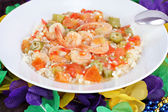 Shrimp Gumbo for Mardi Gras — Stock Photo