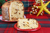 Italian Panettone Christmas Cake — Stock Photo