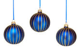 3 beautiful hanging Christmas ornaments — Stock Photo
