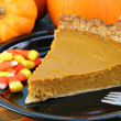 Pumpkin Pie Slice - Stock Photo