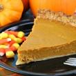 Pumpkin Pie Slice — Stock Photo