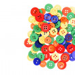 Assorted Colorful Buttons — Stock Photo