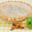 Stock Photo: Whole Homemade Apple Pie