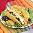Stock Photo: Mexican Taco Dinner