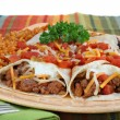 Stock Photo: Beef Burrito Dinner