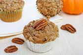 Pumpkin Pecan Muffins — Stock Photo