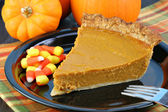 Pumpkin Pie Slice — Stockfoto