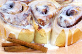 Fresh Baked Cinnamon Buns — Stock Photo