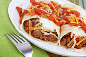Mexican Beef Burritos — Stock Photo