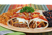 Beef Burrito Dinner — Stock Photo