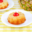 Individual Pineapple Upside Down Cakes - Stock Photo