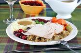 Turkey dinner — Stock Photo