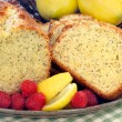 Stock Photo: Lemon Poppyseed Pound Cake