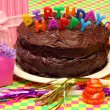 Happy Birthday chocolate cake — Stock Photo #2822068