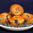 Fresh blueberry muffins - Stock Photo