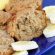 Banana Muffins with Sliced Banana — Foto Stock