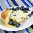 Cut Blueberry Muffin and Blueberries — Stock Photo