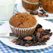 Oat Bran Muffins - Stock Photo