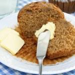 Cut oat bran muffin — Stock Photo #2822709