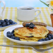 Blueberry Pancake Breakfast — Stock Photo