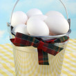 Bucket of Eggs — Stock Photo