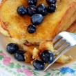 French toast with blueberries — Stock Photo