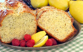 Lemon Poppyseed Pound Cake — Stock Photo