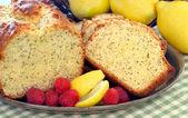 Lemon Poppyseed Pound Cake — Stock Photo