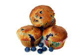 Stacked Blueberry Muffins — Stock Photo